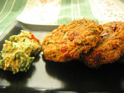 Spinach-Sun Dried Tomato Hummus Croquettes