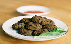 Thai Style Black Bean Croquettes