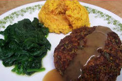 Southern Blackeyed Pea Croquettes and Sweet Potato Biscuits